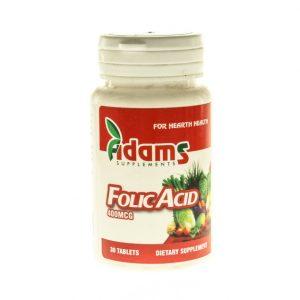 ADAMS -ACID FOLIC 400 MCG