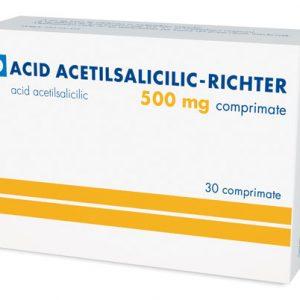 ACID ACETILSALICILIC - RICHTER 500 mg X 30 COMPR. GEDEON RICHTER ROMAN